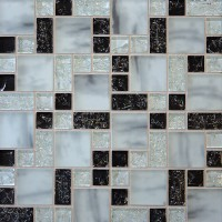 Ice Crackle Brick - Black