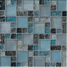 Ice Crackle Brick - Blue